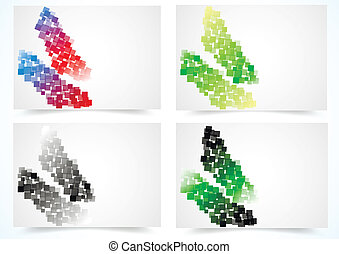 Set of abstract colorful  cards