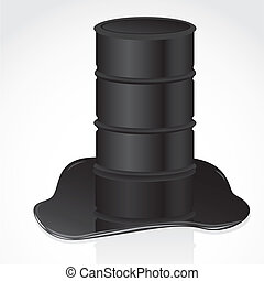 petroleum spill and gallon vector illustration