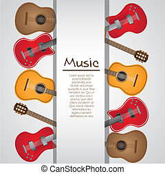 background of guitars