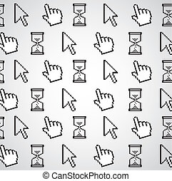 pattern of computer icons