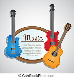 background electric and acoustic guitar