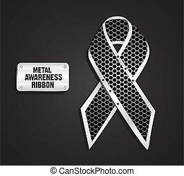 Metal awareness ribbon