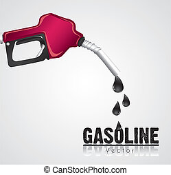 gasoline dispenser leaking, issolated on white background