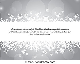 snow vector - white snow over silver background vector...