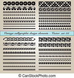 Vintage calligraphic design elements - Set of vintage...
