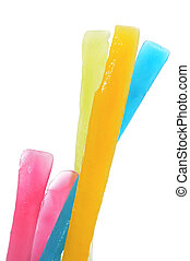 freezer pops - some freezer pops of different colors on a...