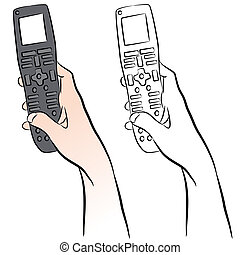 Remote Control - An image of a hand holding a universal...