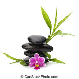 Zen pebbles balance Spa and healthcare concept