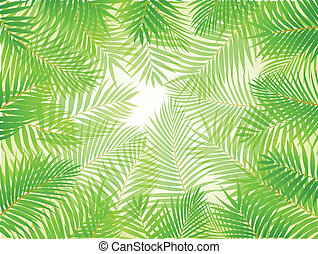 Palm leaf background - Vector Illustrati9on Of Palm leaf...