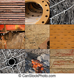construction materials - collage of construction materials...