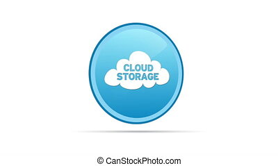 Cloud Storage - Spinning Cloud Storage Icon