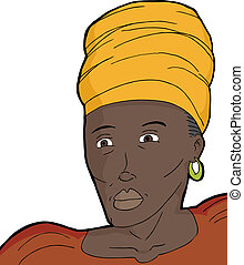 African Muslim Woman - Muslim woman in traditional African...