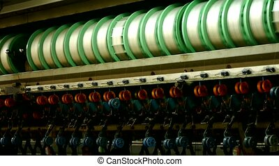 Reeling machine and Textile machine in operation