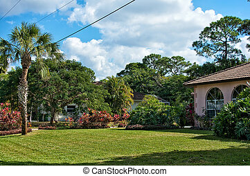 typical southern florida neighborhood - View of a typical...