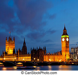 Panorama Big Ben - Panorama of Big Ben and House of...