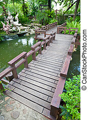 footbridge - old footbridge in the garden