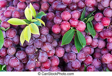Fresh grape fruit in the market