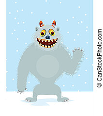 Yeti - Vector illustration of yeti cartoon