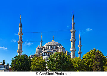 Blue mosque in Istanbul Turkey - architecture religion...