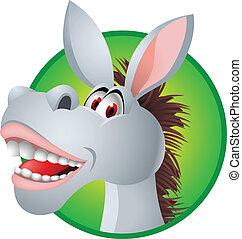 Funny donkey - Vector illustration of funny donkey head