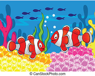 Clown fish cartoon - Clown fish cartoon