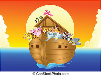 Noah ark - Vector illustration of Noah ark