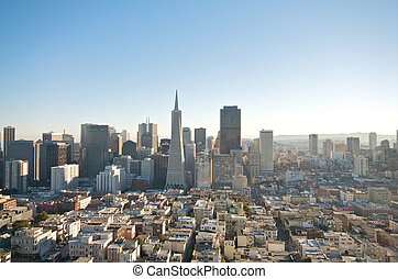 San Francisco Skyline - San Francisco skyline captured from...