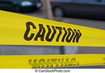 Yellow Caution Tape - Horizontal Yellow Caution Tape in...