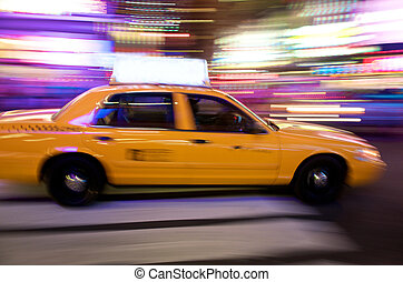 Yellow Cab New York - Times Square in New York City