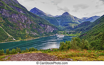 Geiranger fiord - the end of Geiranger fiord, Norway