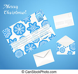 Christmas envelope set
