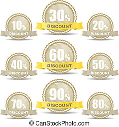 Shopping discount labels collection