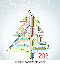Abstract metro scheme christmas car