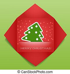 christmas greeting card - Color polygonal christmas greeting...