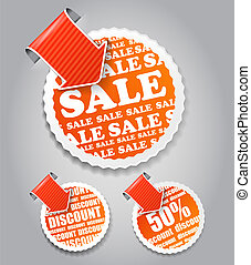 Vector shopping labels