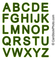 Green alphabet - capital letters - Capital letters of the...