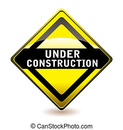 Under construction icon - Yellow and black under...
