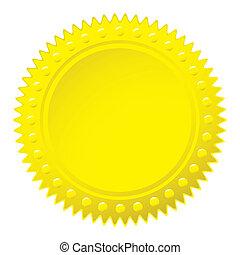 Wax gold seal