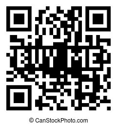 QR code buy me - Simple modern qr code with buy me for...