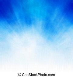 White burst on blue