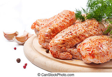 Spicy raw chicken with dill