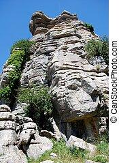 Karst landscape, El Torcal, Spain. - Karst landscape, El...