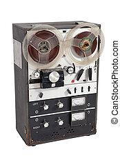 Old vintage reel-to-reel recorder
