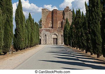Alley near the Abbey of San Galgano