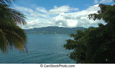 Timelapse view of Lake Toba HD - Lake Toba in Sumatra,...