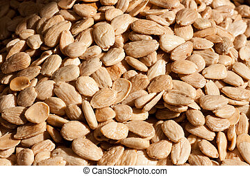 Blanched almonds, toasted