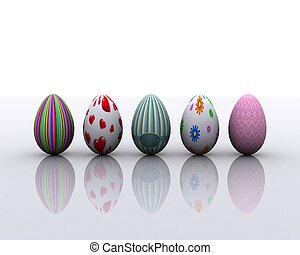 Colored eggs - 3D