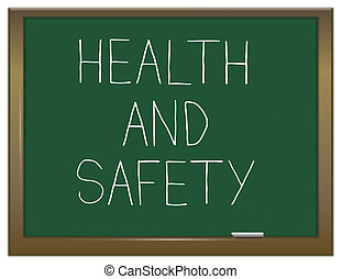Health and safety. - Illustration depicting a green...