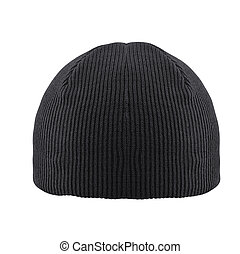 black woolen winter hat