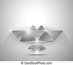 abstract background - 3d figures